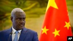 Moussa Faki Mahamat à Pékin le 8 février 2018.