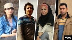 از راست: اسماعیل بخشی، سپیده قلیان، امیرحسین محمدیفرد و ساناز الهیاری