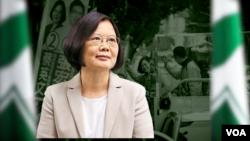 台湾总统当选人蔡英文 (资料照片)