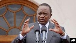 Rais Kenyatta akihutubia taifa.
