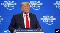 Donald Trump na Forum économique na Davos, Suisse, 21 janvier 2020.