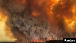 Cháy rừng tại Bairnsdale, bang Victoria, Úc, ngày 30/12/2019.