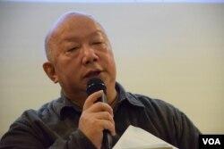 香港人權監察總軒事羅沃啟。(美國之音湯惠芸攝)