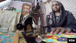 Tahira Bibi is a grandmother who never got the chance to attend school. She says watching her grandchildren inspired her to get involved herself in the Street to School program. (VOA)