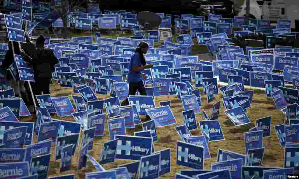 تب داغ انتخابات و طرفداران کاندیداهای انتخاباتی ریاست جمهوری آمریکا - کارولینای جنوبی