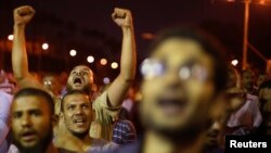 Những người ủng hộ Tổng thống Ai Cập bị lật đổ Mohamed Morsi biểu tình ở Cairo, 11/7/13