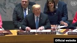 نشست ویژه شورای امنیت سازمان ملل متحد به ریاست دونالد ترامپ رئیس جمهوری ایالات متحده - ۴ مهر ۱۳۹۷