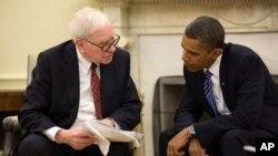 Obama milyarder yatarımcı Warren Buffett ile