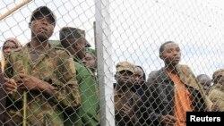 Des miliciens du M23 à Rugwerero en Ouganda