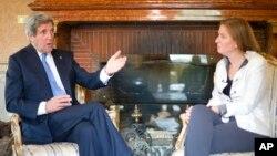 Američki državni sekretar Džon Keri tokom susreta sa izraelskom ministarkom pravde Cipi Livni