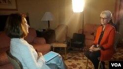 مصاحبه اختصاصی ستاره درخشش رئیس بخش فارسی صدای آمریکا با وندی شرمن معاون وزیر امور خارجه ایالات متحده آمریکا - ۳ مهر ۱۳۹۳