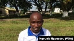 Gaspard Mienantima, responsable de l'association qui recense les sinistrés du Pool, au Congo, le 3 avril 2017. (VOA/Ngouela Ngoussou)