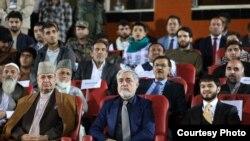 داکتر عبدالله عبدالله رئیس اجراییه افغانستان در روز افتتاح رقابت های لیگ برتر فوتبال افغانستان، بنیاد رحمانی