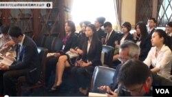 台灣學生運動領袖 在美觀摩民主運作