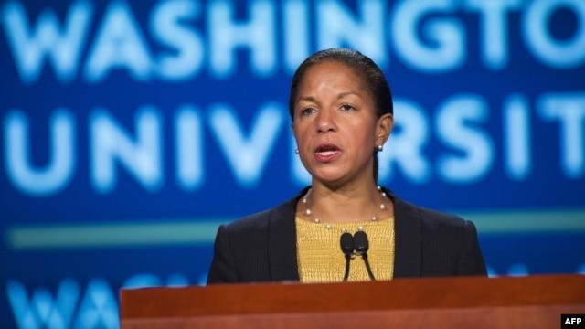 Cố vấn an ninh quốc gia Mỹ Susan Rice trong một cuộc hội thảo về quan hệ Mỹ - Trung tại Washington, D.C., ngày 21/9/2015.