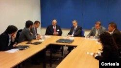 La oposición venezolana pidió observación a europarlamentarios en materia electoral y de derechos humanos.