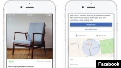 Facebook's Marketplace app allows users to buy or sell goods with other Facebook members. (Facebook)