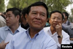 FILE - Cambodia National Rescue Party's Kem Sokha, pictured in Phnom Penh in February 2016.