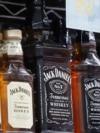 FILE -- Bottles of Jack Daniel's whiskeys are displayed at Rossi's Deli in San Francisco.
