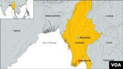 Map of Meikhtila, Burma