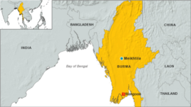 Map of Meikhtila, Burma