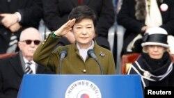 Bà Park Geun-hye trở thành nữ tổng thống đầu tiên của Nam Triều Tiên, ngày 25/2/2013.
