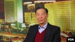 中国资深经济学家茅于轼 (美国之音资料照片)