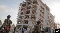 Après une attaque-suicide à Mogadiscio, le 26 juillet 2015.