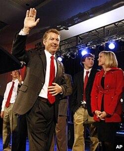 剛剛當選肯塔基州參議員的蘭德•保羅