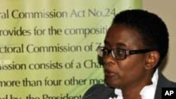 FILE - Director of Elections at the Zambia Electoral Commission, Priscilla Isaac