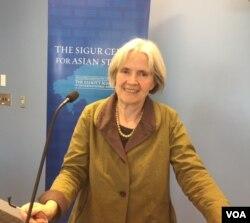 澳大利亚墨尔本大学历史学家安东尼娅·费宁(美国之音记者叶凡摄)