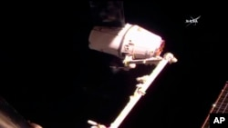 La cápsula se había ido hacia la estación espacial hace un mes.