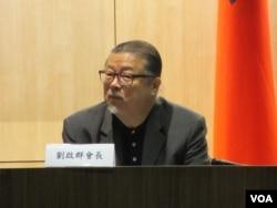 台灣非政府組織路竹會會長劉啟群(美國之音張永泰攝)