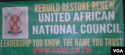 The United African National Council is being revived.