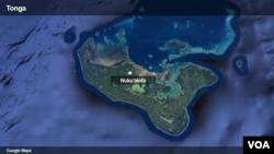 Peta wilayah Tonga.
