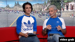 Lucy Zelic and Craig Foster address the growing criticism of Zelic's correct pronunciation of World Cup players' games. (video screengrab)