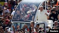 Papa Franja na trgu Zokalo u Meksiko Sitiju, 13. februar 2016.
