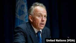 Ambassador Michael Keating, the U.N. envoy to Somalia, is warning against corruption practices as the country's electoral body begins to register candidates for the February 8 presidential election. (United Nations/VOA)