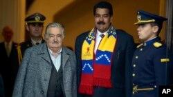 El presidente Mujica traspasó la presidencia pro-tempore del bloque al venezolano Nicolás Maduro.