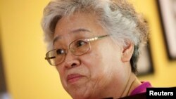 Myunghee Bae, the mother of Kenneth Bae, is pictured during an interview with Reuters in Lynnwood, Washington August 7, 2013.