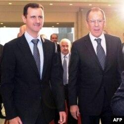 Bashar al-Assad va Rossiya Tashqi ishlar vaziri Bashar al-Assad, Damashq, 7-fevral 2012