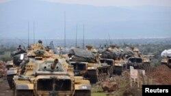 Sojojin Turkiyya kusa da garin Hassa dake kan iyaka da Syria