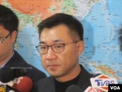 台湾在野党国民党立委江启臣(美国之音张永泰拍摄)
