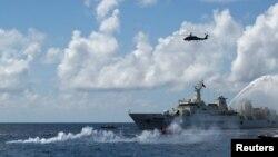 Tàu tuần tra của Cảnh sát biển Đài Loan ở khu vực gần đảo Ba Bình.