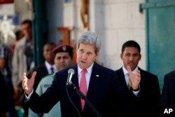 11月6日克里在约旦河西岸发表讲话