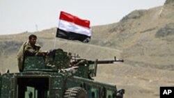 살레 대통령 관저를 경비하는 예멘 경찰