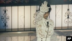 FILE - Singer Prince performs at the 1985 Grammy awards ceremony in Los Angeles on Feb. 26, 1985.