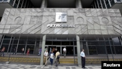 FILE - The headquarters building of Brazilian state oil company Petrobras in Rio de Janeiro.