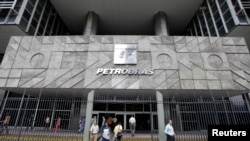 FILE - The headquarters of Brazilian state oil company Petrobras in Rio de Janeiro. Mariano Marcondes Ferraz stands accused of bribing a former executive at the state-run oil company to win contracts for his own firm.