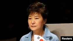 FILE - South Korea's President Park Geun-hye.